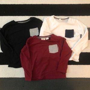 Zara Boys Long Sleeve Tshirts Size 3/4